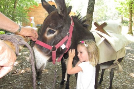 Op Maison Payrac kan je een wandeling maken met een ezel